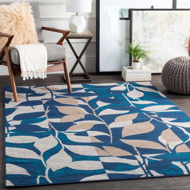 Clairmont CMT-2315 Navy Area Rug-Area Rug-Surya-2' x 3'-The Rug Truck