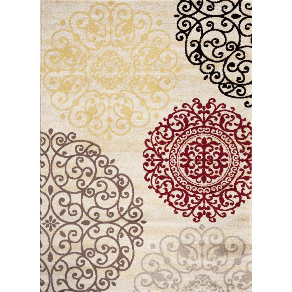 Toscana 303 Cream Area Rug-Area Rug-World Rug Gallery-2' x 3'-The Rug Truck