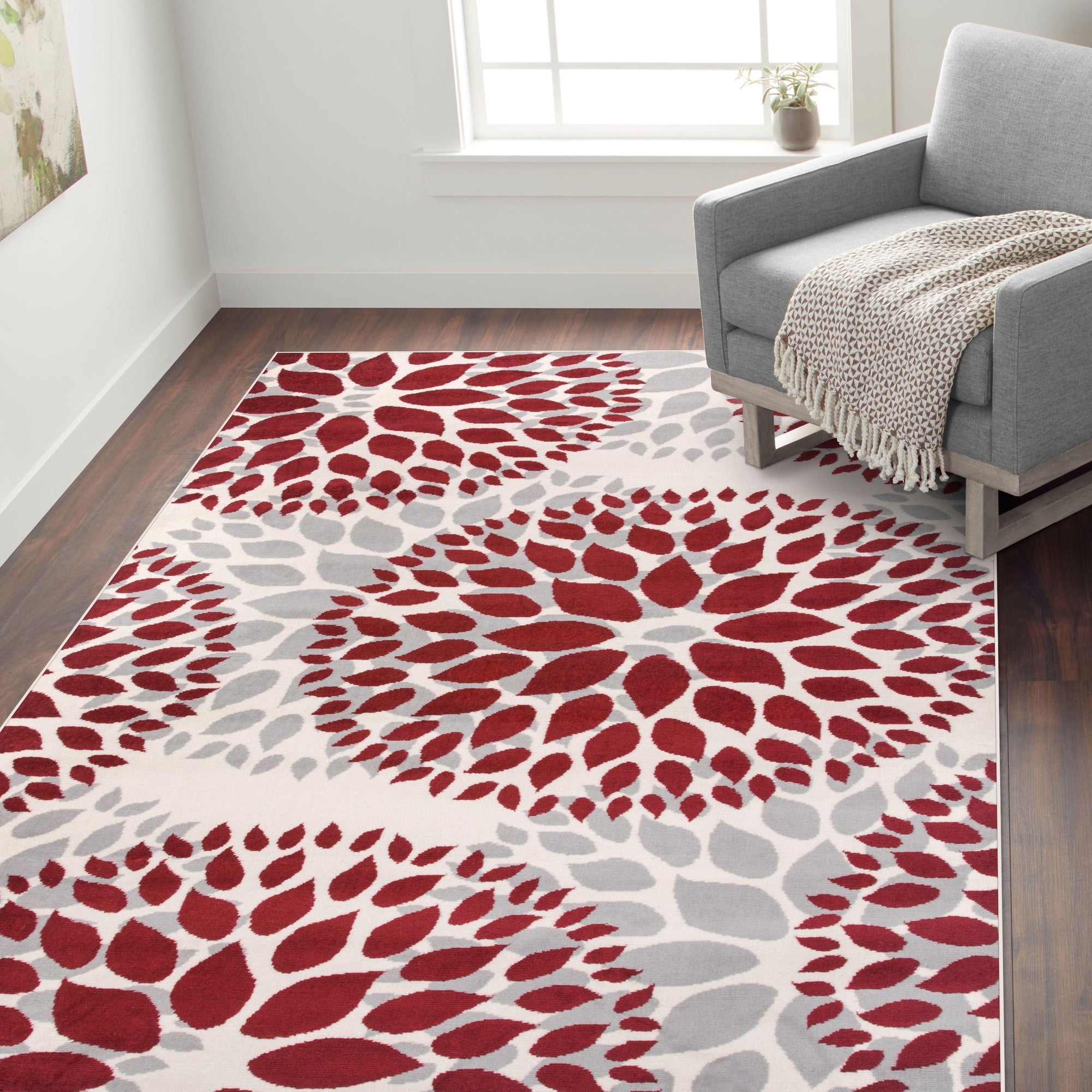 Newport 9099 Red Area Rug 2 X 72