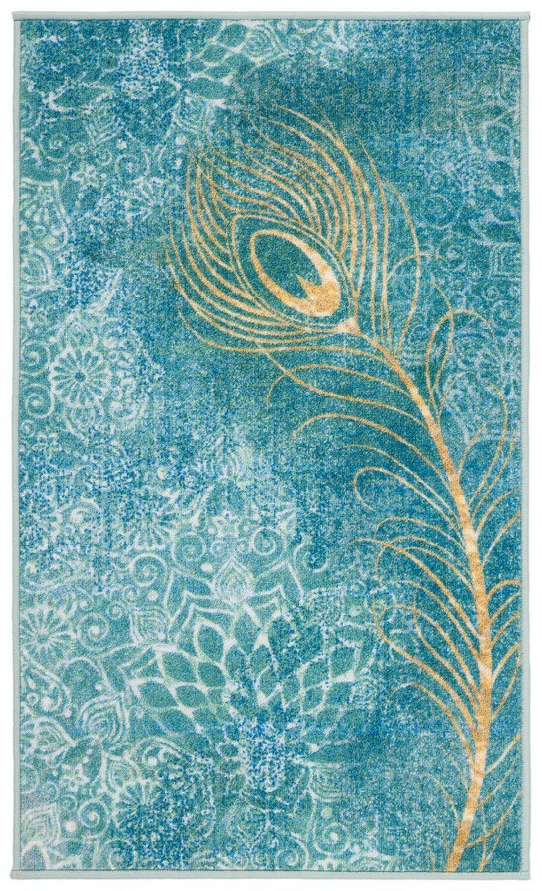 "Safavieh Collection Inspired by Disney's Live Action Film Aladdin - Dream Rug, Turquoise / Gold-Area Rug-Safavieh-2' 3"" X 3' 9""-The Rug Truck"