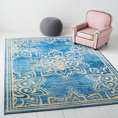 Safavieh Collection Inspired by Disney's Live Action Film Aladdin - Wonder Rug, Turquoise / Gold-Area Rug-Safavieh-The Rug Truck