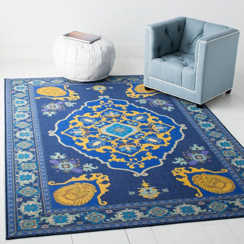 "Safavieh Collection Inspired by Disney's Live Action Film Aladdin - Magic Carpet Rug, Purple / Gold-Area Rug-Safavieh-2' 3"" X 3' 9""-The Rug Truck"