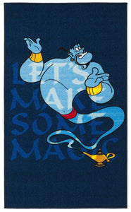 "Safavieh Collection Inspired by Disney's Aladdin - Genie Rug, Blue / Light Blue-Area Rug-Safavieh-2' 3"" X 3' 9""-The Rug Truck"