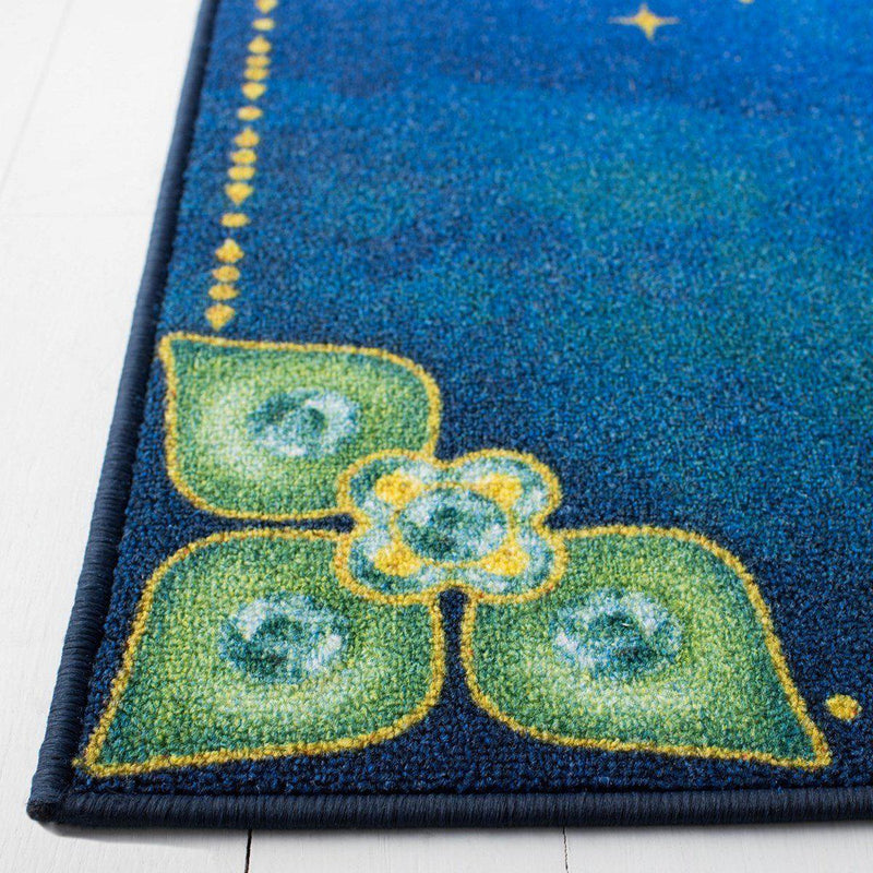 "Safavieh Collection Inspired by Disney's Live Action Film Aladdin - Aladdin And Jasmine Rug, Blue / Green-Area Rug-Safavieh-2' 3"" X 3' 9""-The Rug Truck"