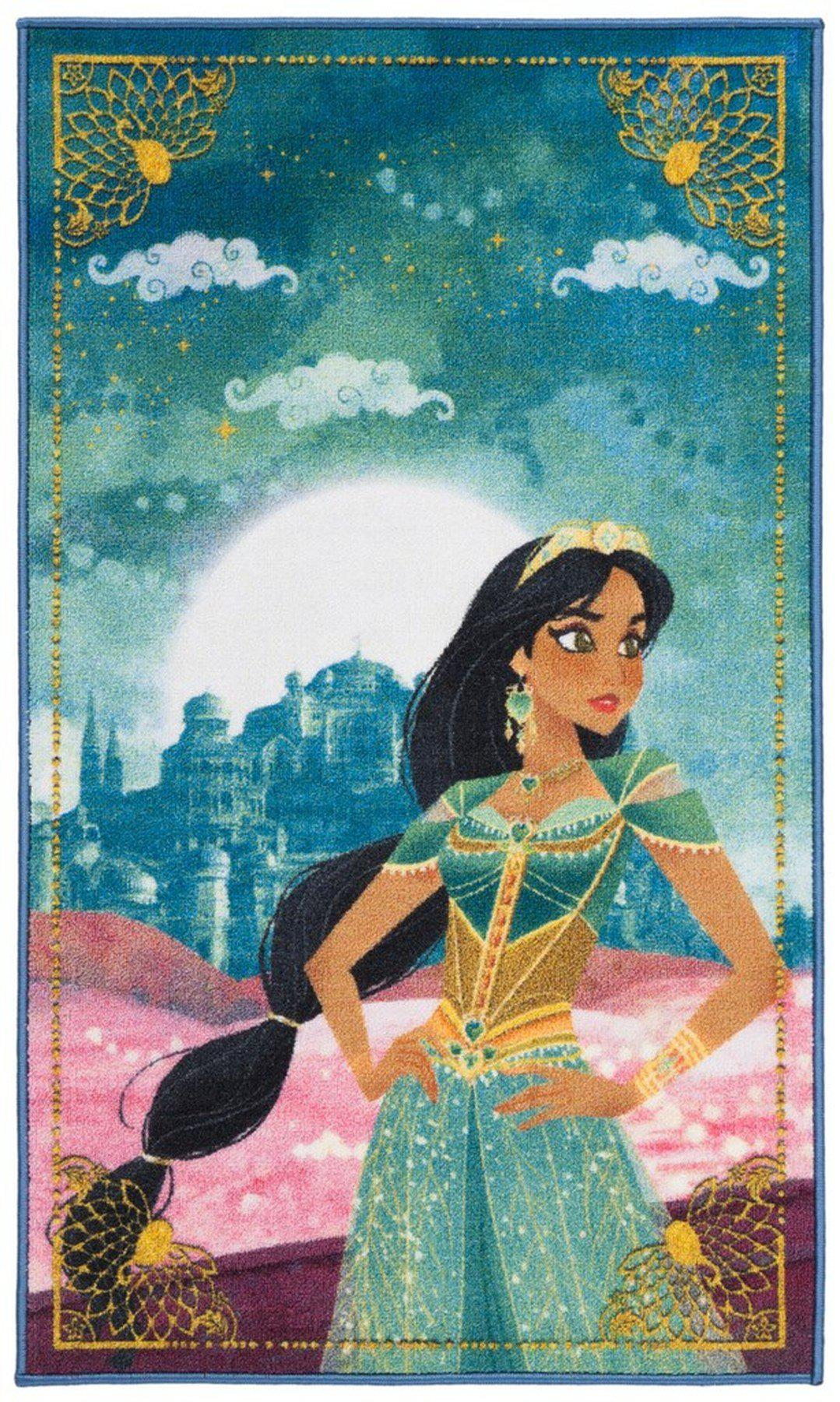 "Safavieh Collection Inspired by Disney's Live Action Film Aladdin - Free To Dream Rug, Turquoise / Pink-Area Rug-Safavieh-2' 3"" X 3' 9""-The Rug Truck"