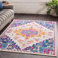 Elaziz ELZ-2300 Dark Blue Area Rug-Area Rug-Surya-The Rug Truck