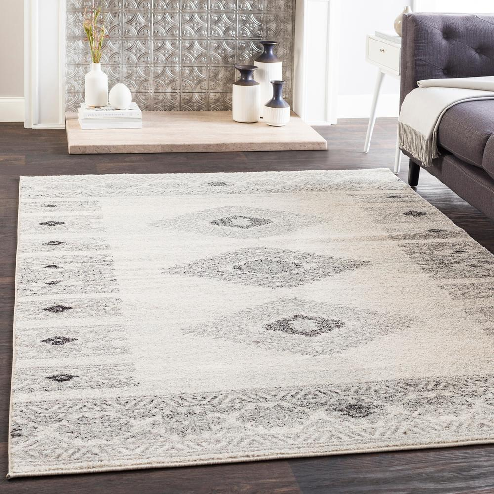 Elaziz ELZ-2305 Medium Gray Area Rug-Area Rug-Surya-2' x 3'-The Rug Truck