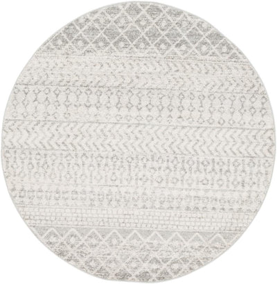 "Elaziz ELZ-2308 Light Gray Area Rug-Area Rug-Surya-5'3"" Round-The Rug Truck"