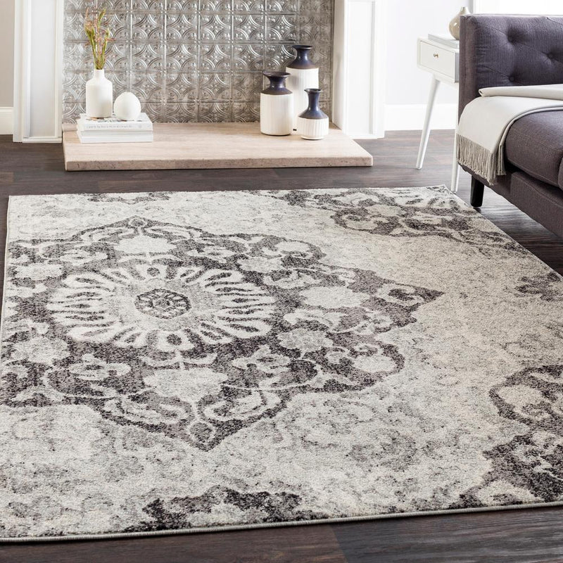Elaziz ELZ-2316 Medium Gray Area Rug-Area Rug-Surya-2' x 3'-The Rug Truck