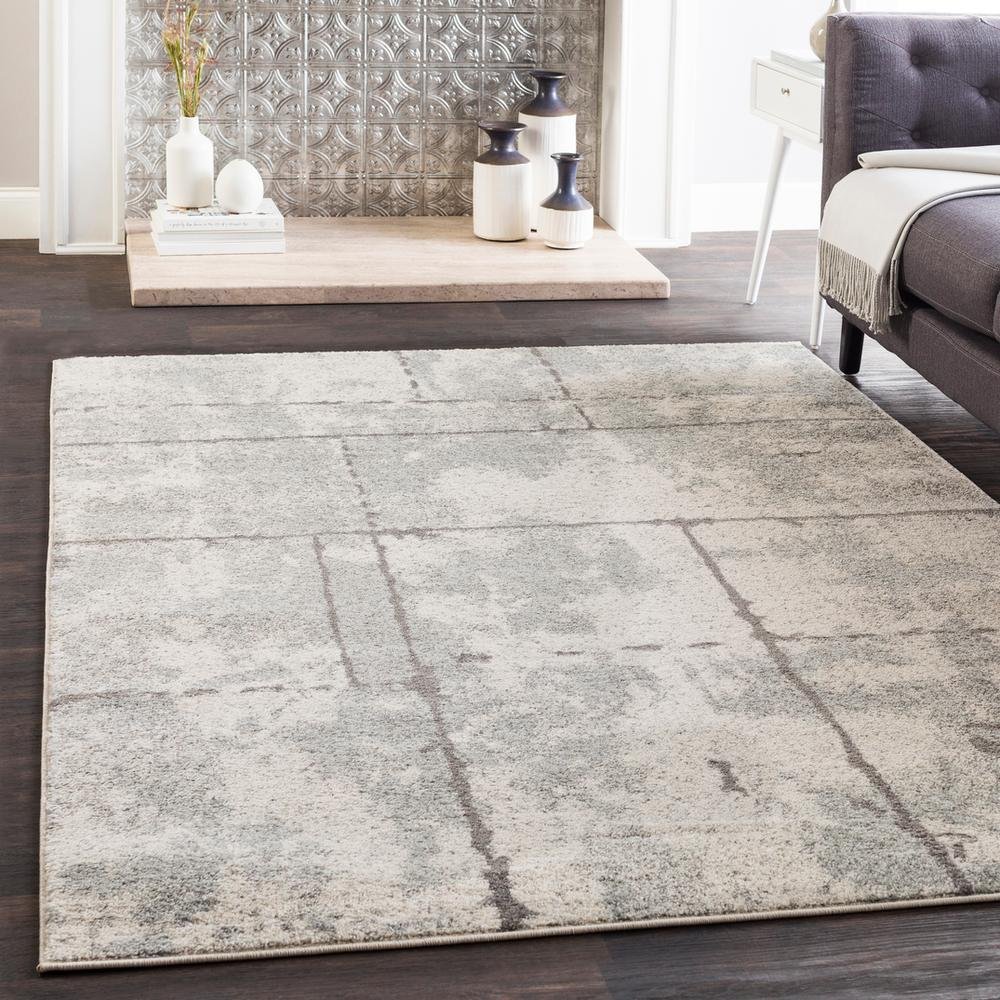 Elaziz ELZ-2327 Light Gray Area Rug-Area Rug-Surya-2' x 3'-The Rug Truck