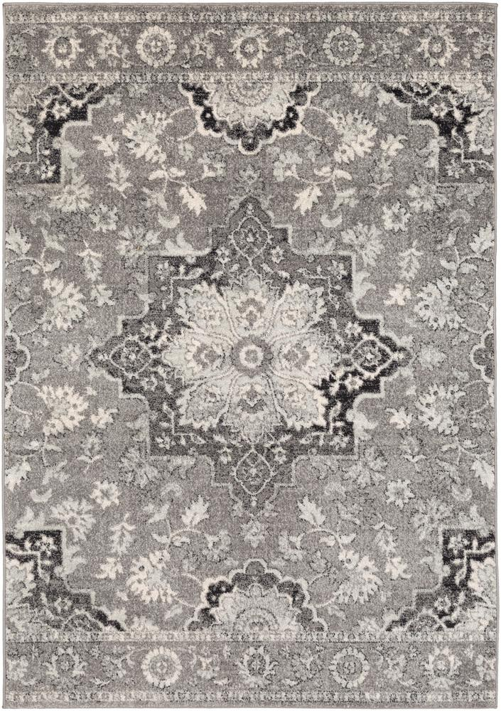 Elaziz ELZ-2341 Medium Gray Area Rug-Area Rug-Surya-2' x 3'-The Rug Truck