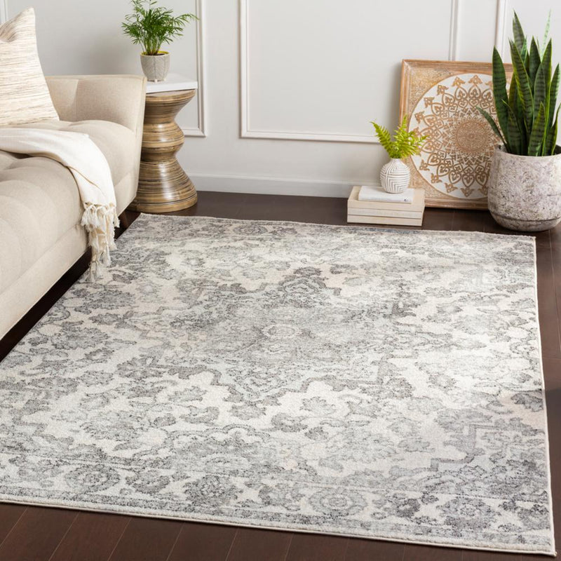 Elaziz ELZ-2344 Medium Gray Area Rug-Area Rug-Surya-2' x 3'-The Rug Truck