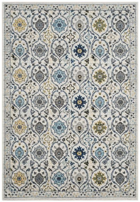 Safavieh Evoke 210 Ivory / Blue-Area Rug-Safavieh-The Rug Truck