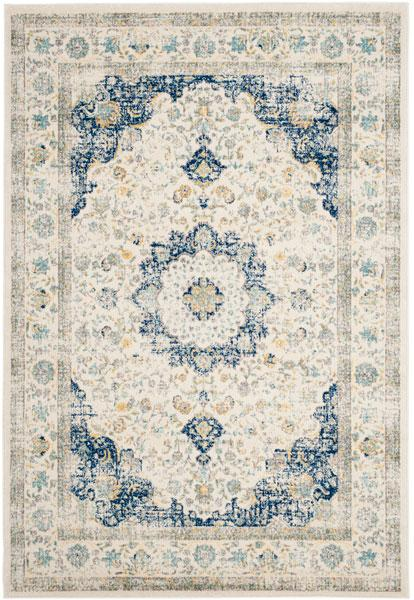 Safavieh Evoke 220 Ivory / Blue-Area Rug-Safavieh-The Rug Truck
