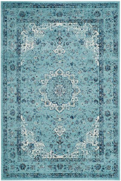 Safavieh Evoke 220 Light Blue / Light Blue-Area Rug-Safavieh-The Rug Truck