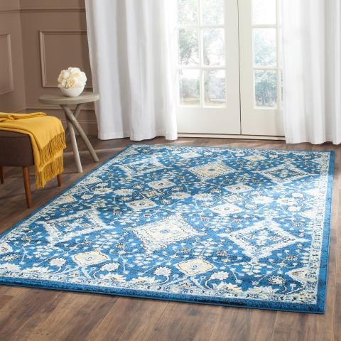 Safavieh Evoke 224 Royal / Ivory-Area Rug-Safavieh-The Rug Truck