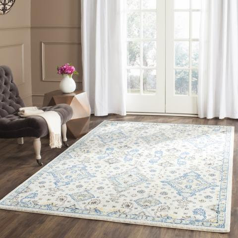 Safavieh Evoke 224 Ivory / Light Blue-Area Rug-Safavieh-The Rug Truck