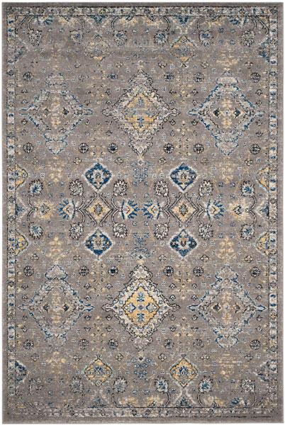 Safavieh Evoke 224 Dark Grey / Yellow-Area Rug-Safavieh-The Rug Truck