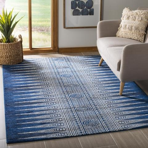 Safavieh Evoke 226 Royal / Ivory-Area Rug-Safavieh-The Rug Truck