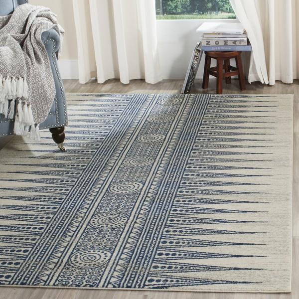 Safavieh Evoke 226 Ivory / Blue-Area Rug-Safavieh-The Rug Truck