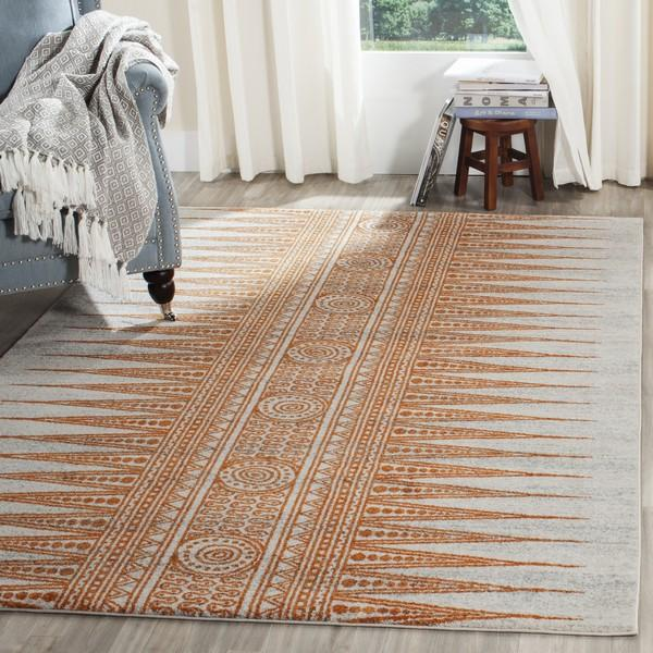 Safavieh Evoke 226 Ivory / Orange-Area Rug-Safavieh-The Rug Truck