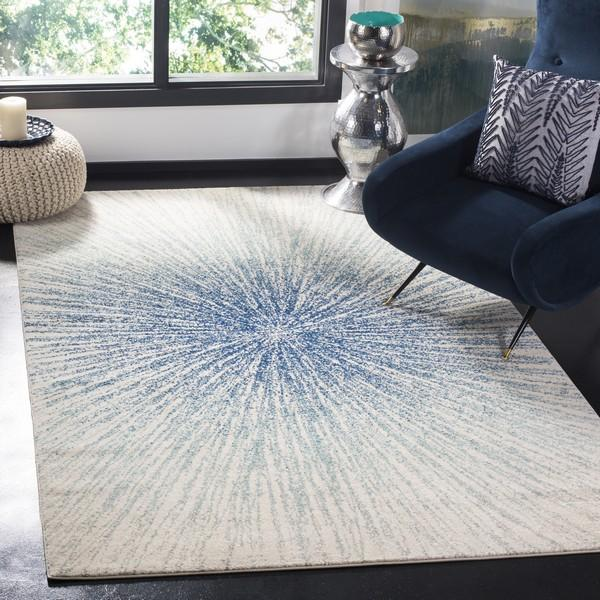Safavieh Evoke 228 Royal / Ivory-Area Rug-Safavieh-The Rug Truck
