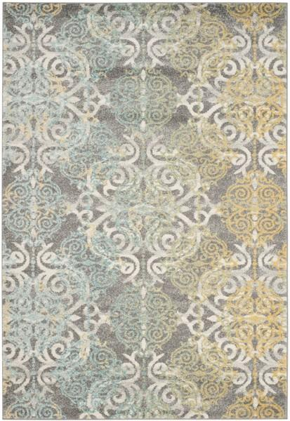 Safavieh Evoke 230 Grey / Ivory-Area Rug-Safavieh-The Rug Truck