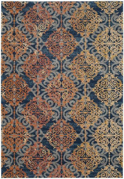 Safavieh Evoke 230 Blue / Orange-Area Rug-Safavieh-The Rug Truck