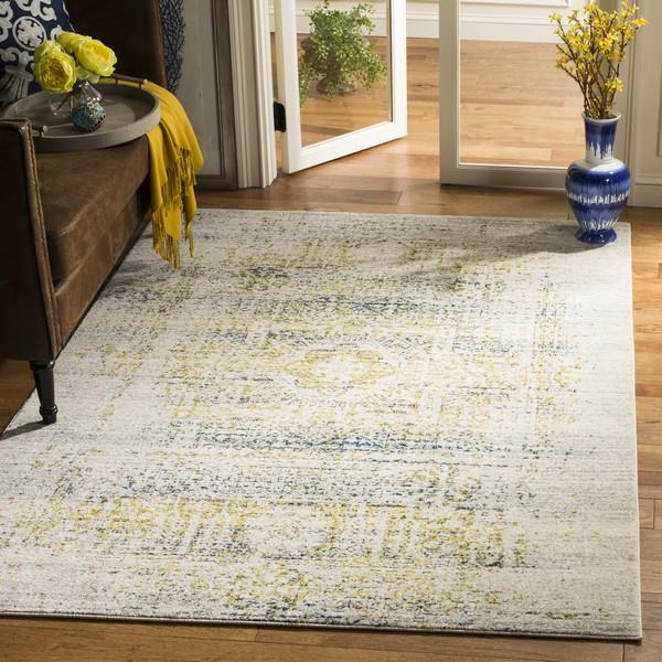 Safavieh Evoke 232 Ivory / Blue-Area Rug-Safavieh-The Rug Truck