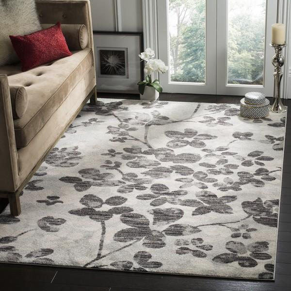 Safavieh Evoke 236 Grey / Black-Area Rug-Safavieh-The Rug Truck