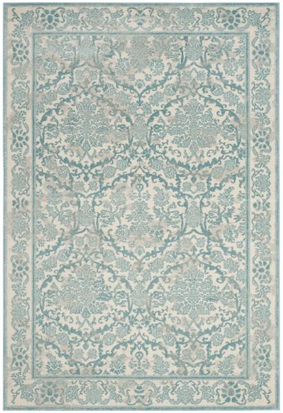 Safavieh Evoke 242 Ivory / Light Blue-Area Rug-Safavieh-The Rug Truck