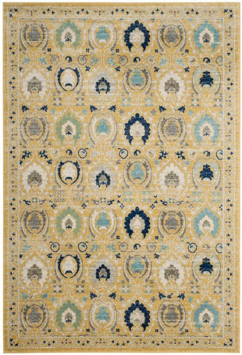 Safavieh Evoke 251 Gold / Ivory-Area Rug-Safavieh-The Rug Truck