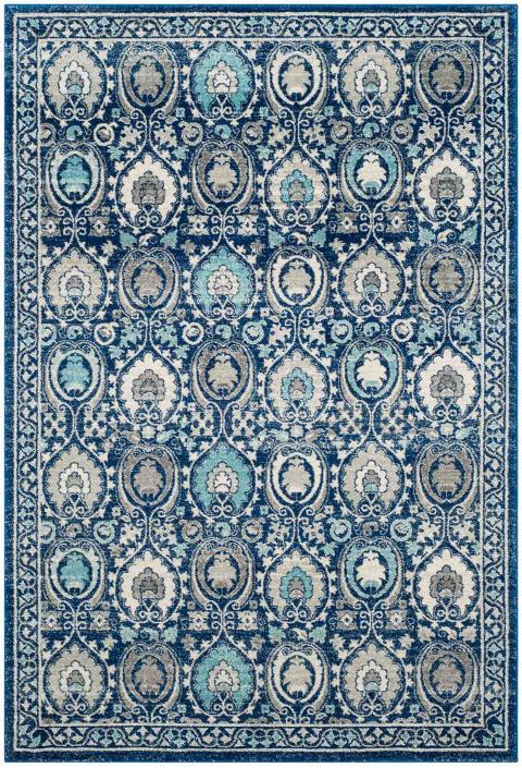 Safavieh Evoke 251 Blue / Ivory-Area Rug-Safavieh-The Rug Truck