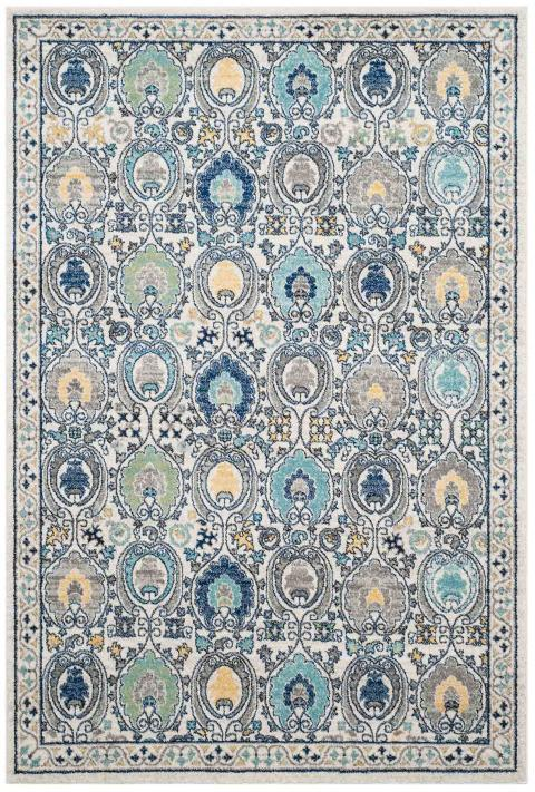 Safavieh Evoke 251 Ivory / Grey-Area Rug-Safavieh-The Rug Truck