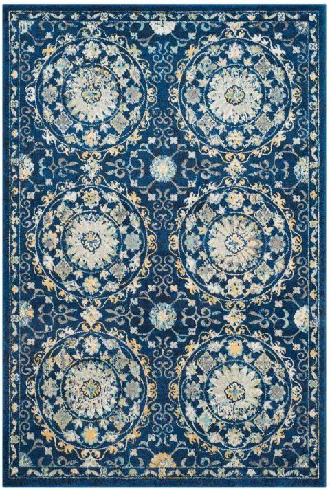 Safavieh Evoke 252 Navy / Ivory-Area Rug-Safavieh-The Rug Truck