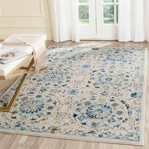 Safavieh Evoke 252 Ivory / Blue-Area Rug-Safavieh-The Rug Truck