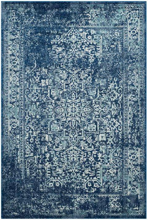 Safavieh Evoke 256 Navy / Ivory-Area Rug-Safavieh-The Rug Truck