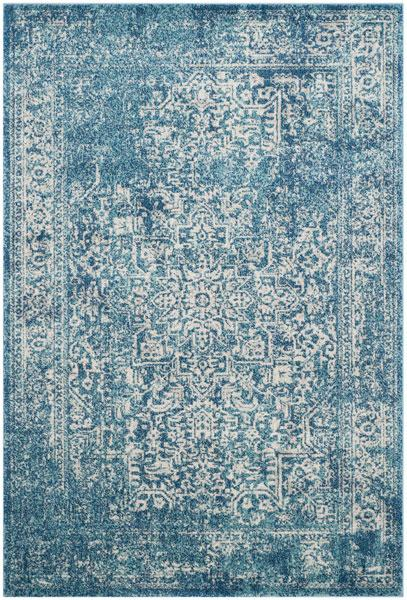 Safavieh Evoke 256 Blue / Ivory-Area Rug-Safavieh-The Rug Truck