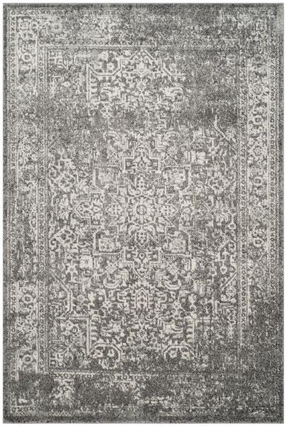Safavieh Evoke 256 Grey / Ivory-Area Rug-Safavieh-The Rug Truck