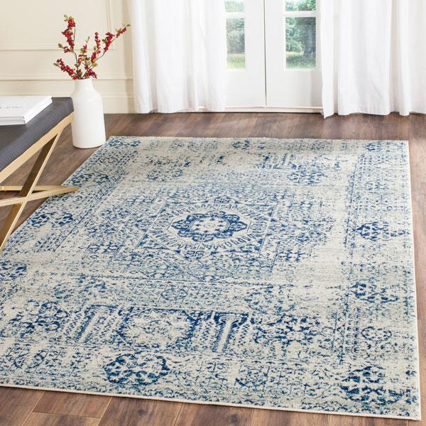 Safavieh Evoke 260 Ivory / Blue-Area Rug-Safavieh-The Rug Truck