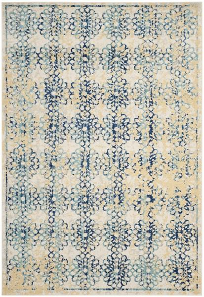 Safavieh Evoke 262 Ivory / Blue-Area Rug-Safavieh-The Rug Truck