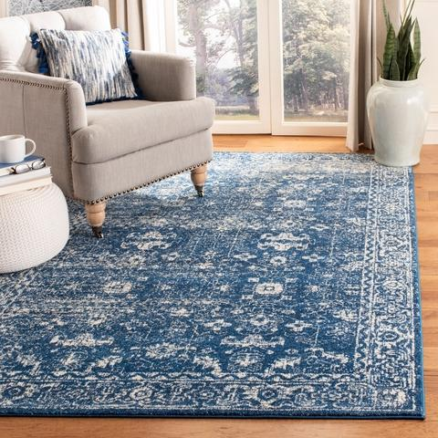 Safavieh Evoke 270 Navy / Ivory-Area Rug-Safavieh-The Rug Truck