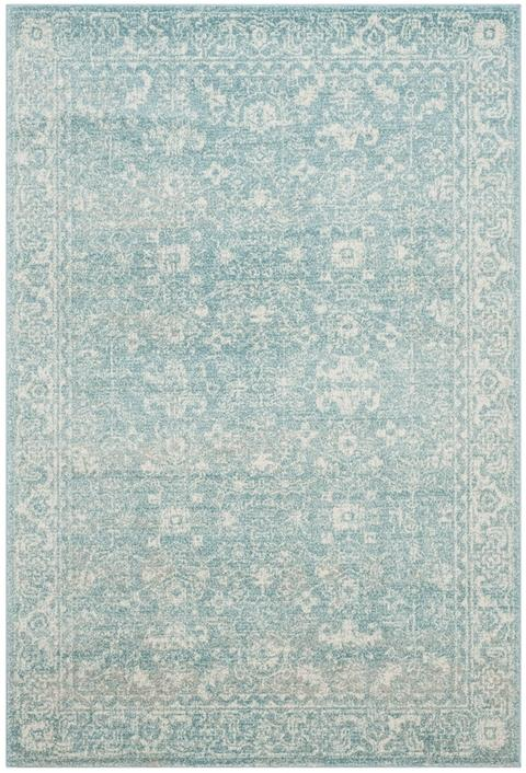 Safavieh Evoke 270 Light Blue / Ivory-Area Rug-Safavieh-The Rug Truck