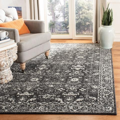 Safavieh Evoke 270 Charcoal / Ivory-Area Rug-Safavieh-The Rug Truck