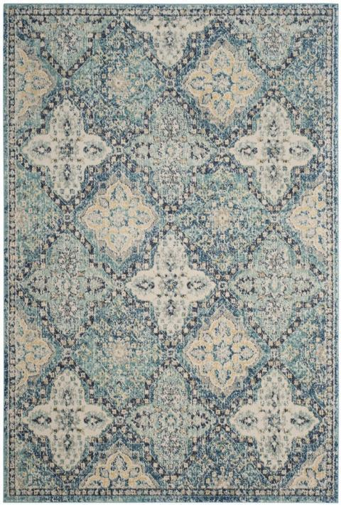 Safavieh Evoke 274 Light Blue / Ivory-Area Rug-Safavieh-The Rug Truck