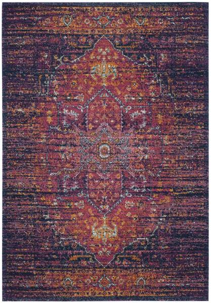 Safavieh Evoke 275 Blue / Fuchsia-Area Rug-Safavieh-The Rug Truck