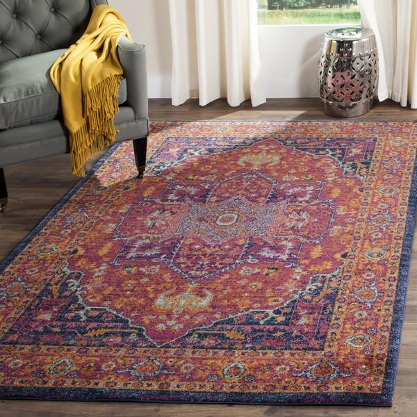 Safavieh Evoke 275 Fuchsia / Orange-Area Rug-Safavieh-The Rug Truck