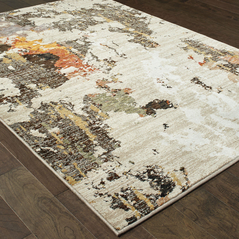 Evolution - 7770J - Beige/Charcoal-Area Rug-Oriental Weavers-The Rug Truck