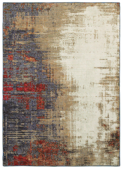 Evolution - 8001A - Ivory/Multi-Area Rug-Oriental Weavers-The Rug Truck