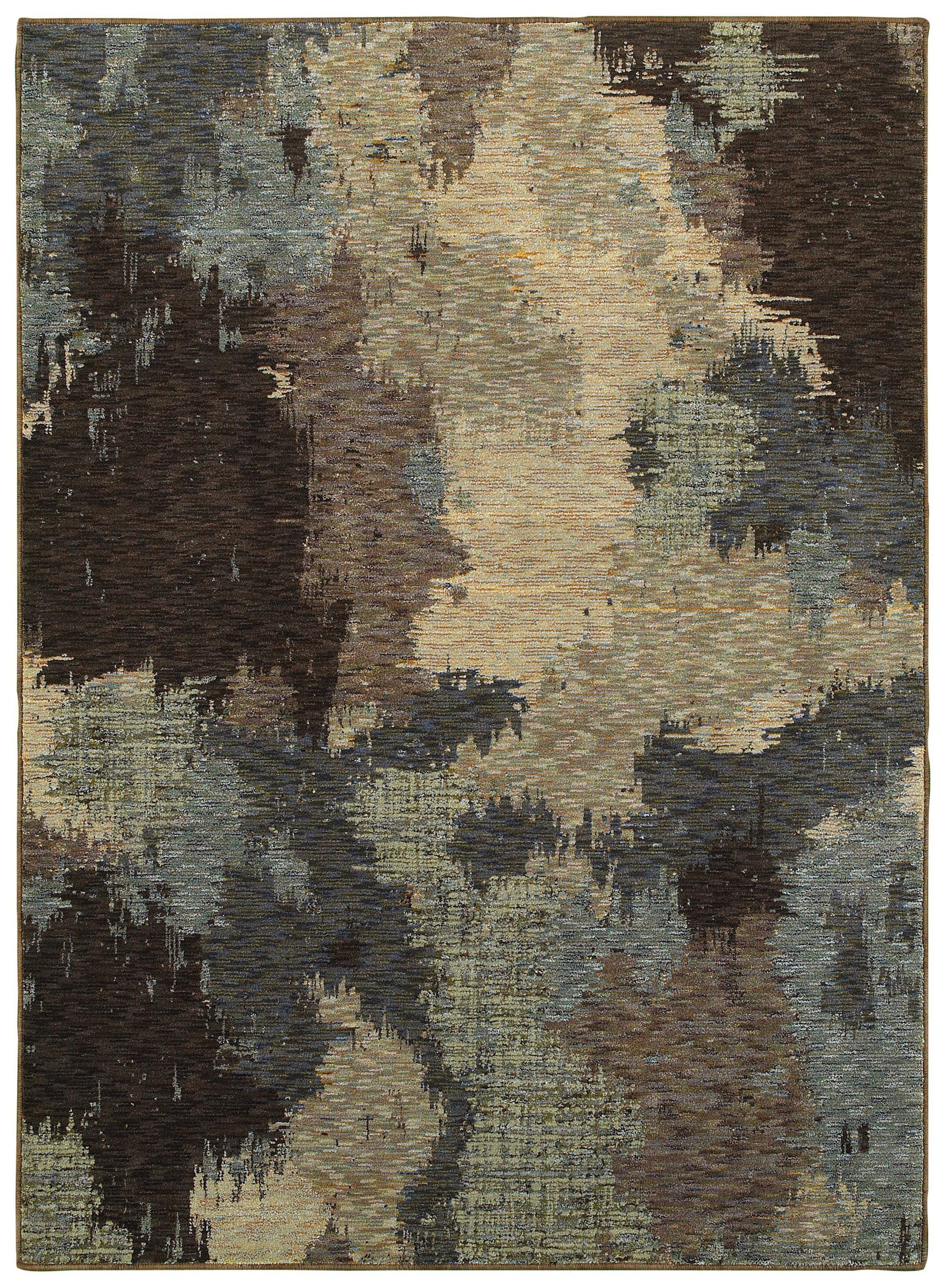 "Evolution - 8011B - Blue/Brown-Area Rug-Oriental Weavers-5' 3"" X 7' 3""-The Rug Truck"